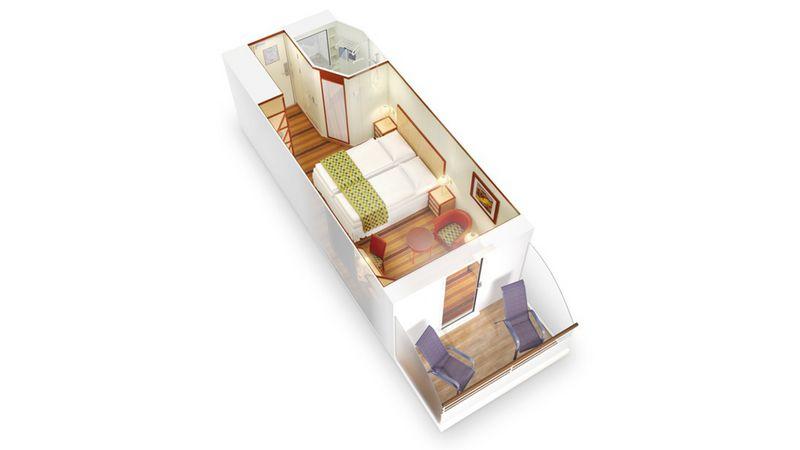AIDAcara kabina z balkonem