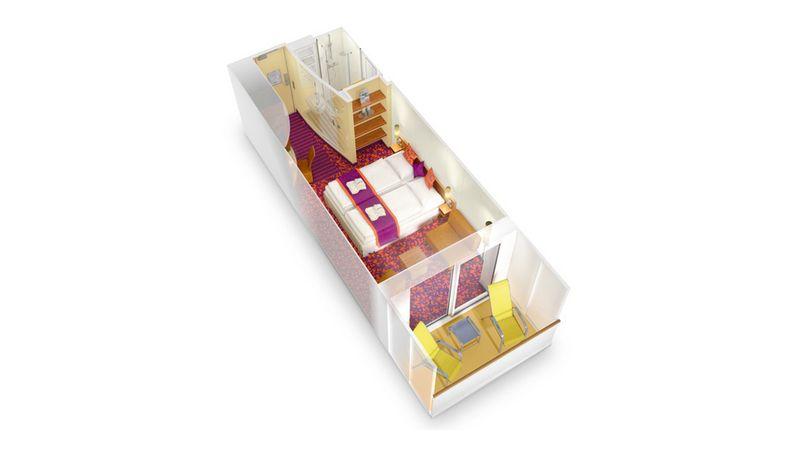 AIDAdiva kabina z balkonem