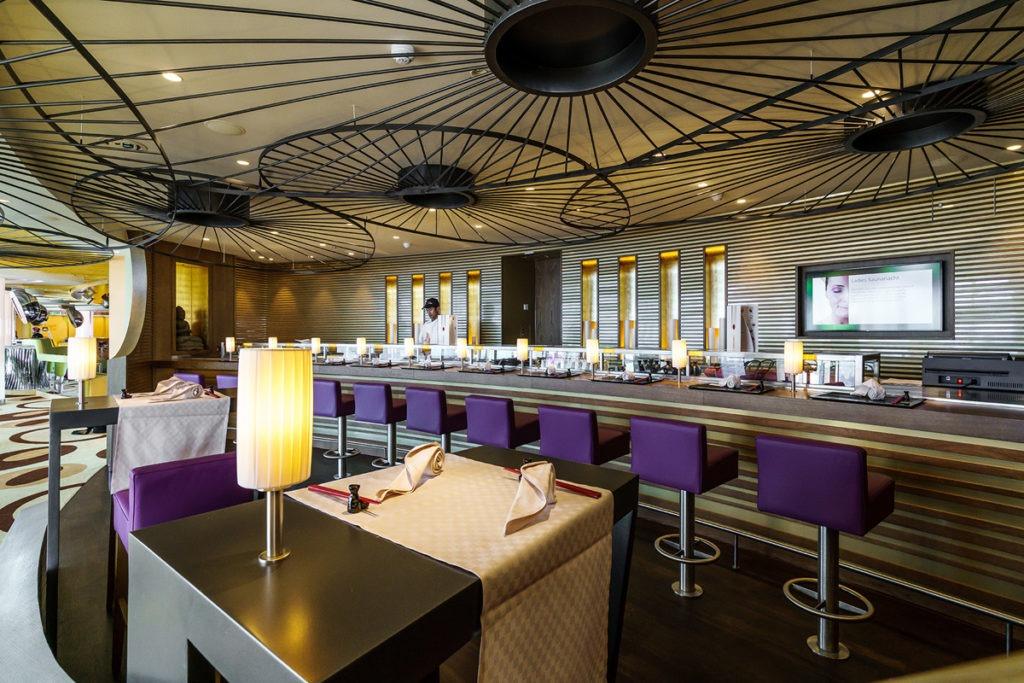 AIDAprima bar Sushi