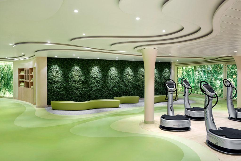 AIDAprima fitness center