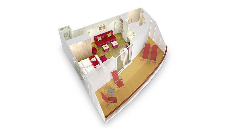 aidabella kabina suite plan