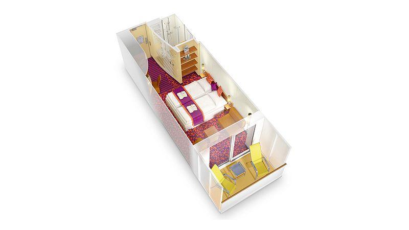 aidabella kabina z balkonem plan