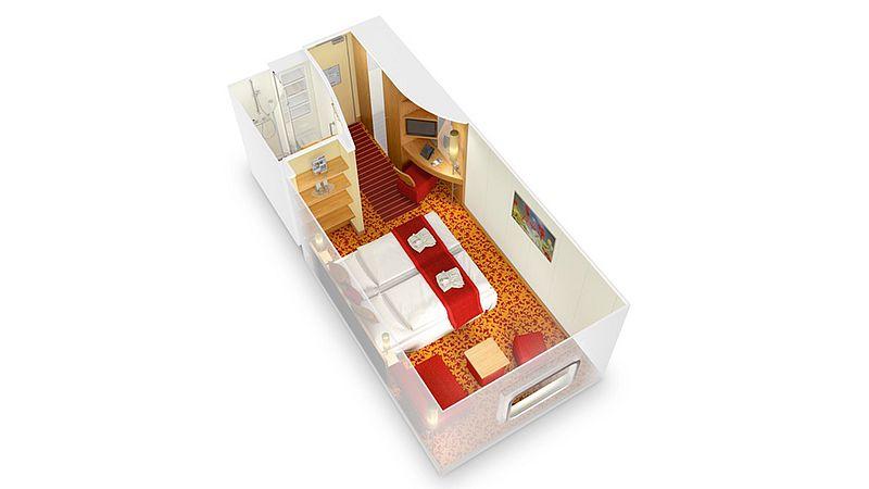 aidabella kabina zewnętrzna z oknem plan