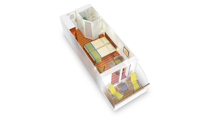 AIDAaura kabina z balkonem