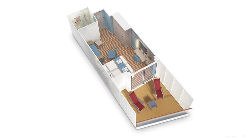 AIDAnova kabina z balkonem Deluxe