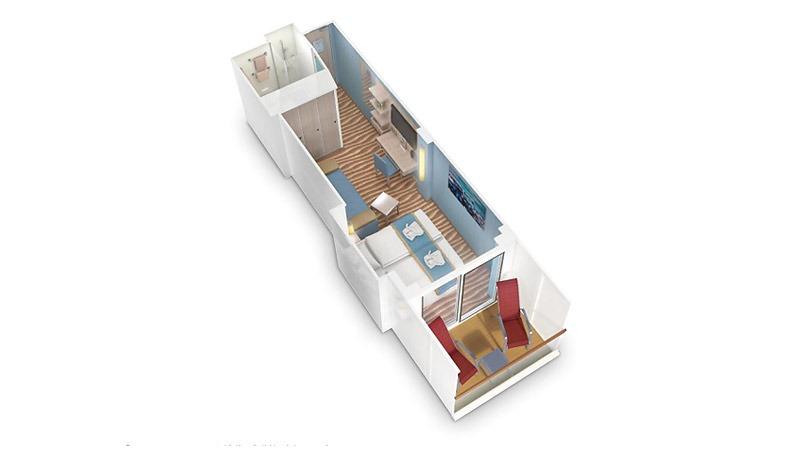 AIDAnova kabina z balkonem Komfort
