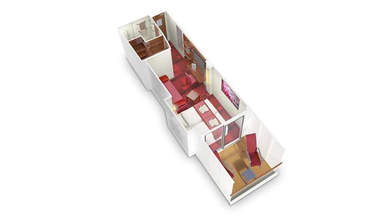 AIDAnova kabina z balkonem