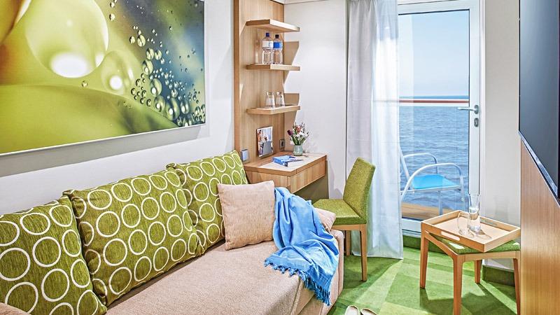 AIDAnova kabina jednoosobowa z balkonem