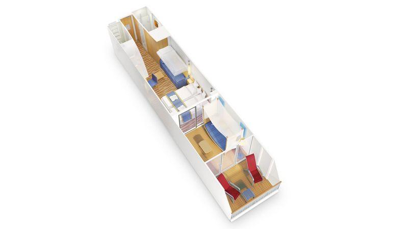 AIDAprima kabina z balkonem Deluxe