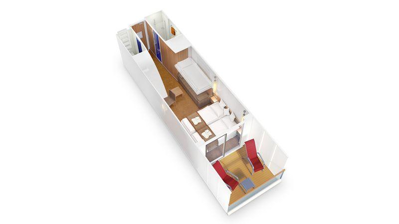 AIDAprima kabina z balkonem Komfort