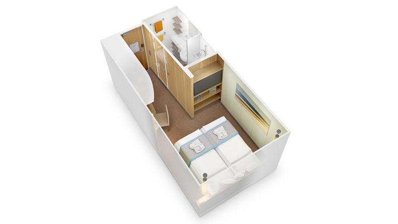 AIDAprima kabina wewnętrzna