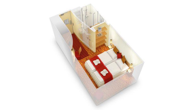 AIDAstella kabina wewnętrzna