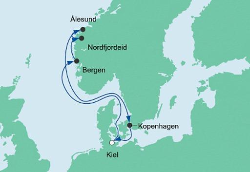 mapa AIDAprima kraj Wikingów