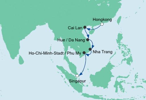 mapa AIDAvita Krajobrazy Wietnamu