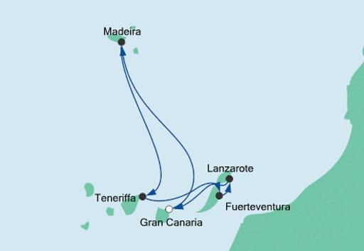 mapa AIDAvova Wyspy Kanaryjskie i Madera 3