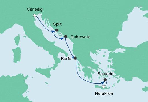 mapa_AIDAblu z Wenecji na Kretę