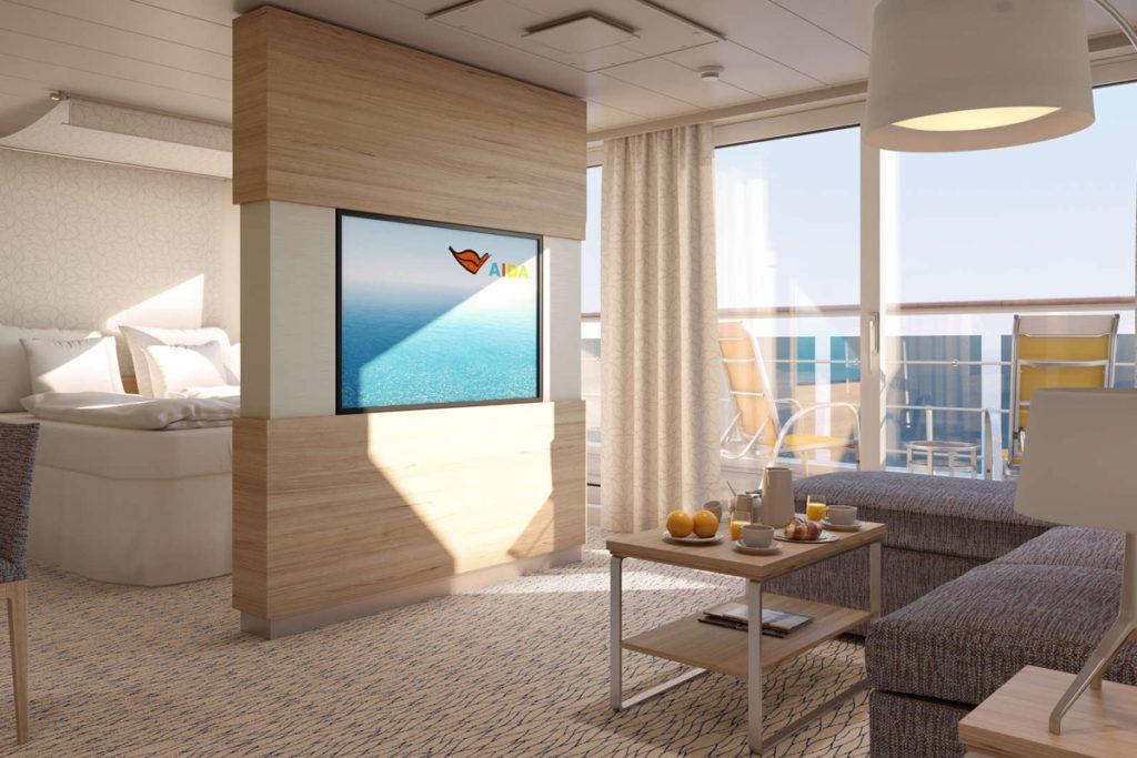 Kabina typu Suite na statku AIDAmira