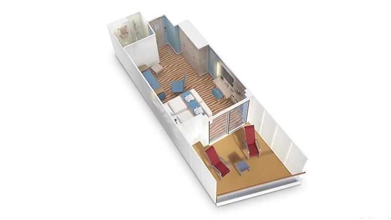 AIDAcosma kabina z balkonem Deluxe