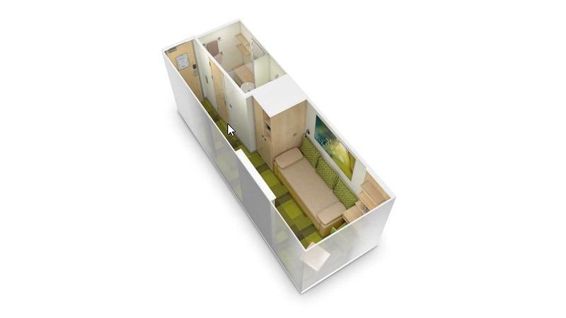 AIDAcosma kabina wewnętrzna jednoosobowa