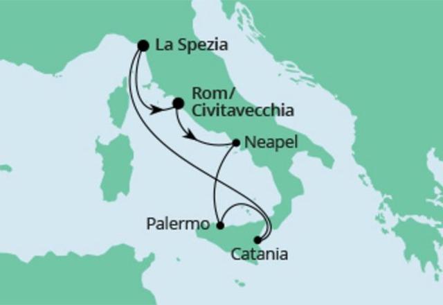 Rejs wybrzeże Włoch statkiem AIDAblu